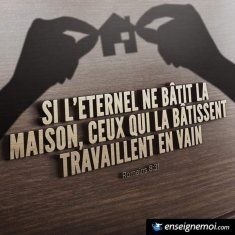 C'EST DIEU LE BÂTISSEUR/ GOD IS THE BUILDER