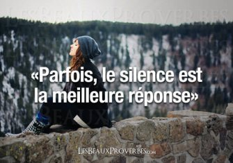 LE SILENCE ET SON ÉLOQUENCE/ SILENCE AND ITS ELOQUENCE
